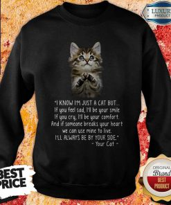 Pretty I Know I'm Just A Cat But If You Feel Sad I'll Be Your Smile Sweatshirt