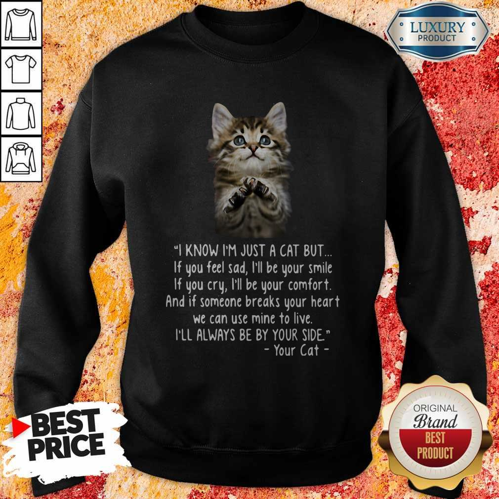 Pretty I Know I'm Just A Cat But If You Feel Sad I'll Be Your Samile Sweatshirt