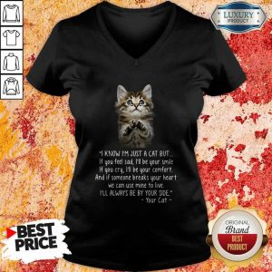 Pretty I Know I'm Just A Cat But If You Feel Sad I'll Be Your Smile V-neck
