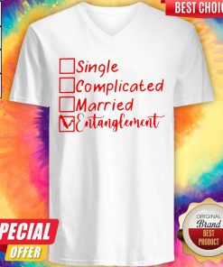 Pretty Single Complicated Married Entanglement V-neck