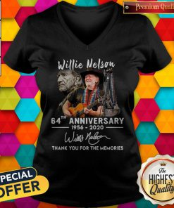 Sweet Willie Nelson 64th Anniversary 1956 2020 Thank You For The Memories V-neck
