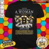 Top Never Underestimate A Woman Who Understand Hockey And Loves Bruins Tee Shirt