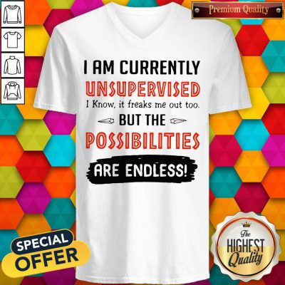 Wonderful I'm Currently Unsupervised I Know It Freaks Me Out Too But The Possibilities V-neck