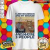 -bear-bbq-i-like-bourbon-and-my-smoker-and-maybe-3-people-vintage-retro shirt