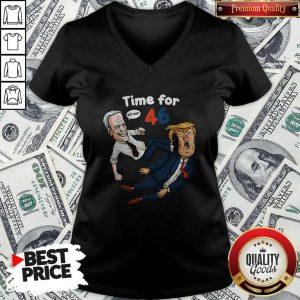 Best Joe Biden 2020 AntiTrump Time For 46 V-neck