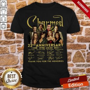Charmed 22nd Anniversary 1998 2020 Thank You For The Memories Signatures Shirt