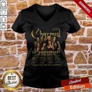 Charmed 22nd Anniversary 1998 2020 Thank You For The Memories Signatures V-neck