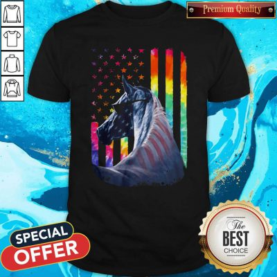 Lgbt Horse American Flag Independence Day ShirtLgbt Horse American Flag Independence Day Shirt