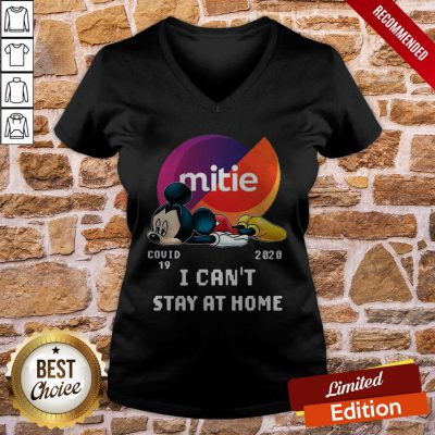 Mickey Mouse Mittie Covid 19 2020 I Can Stay At Home V-neck