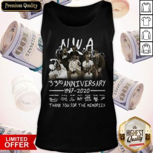 NWA 33rd Anniversary 1978 2020 Thank You For The Memories Signatures Tank Top