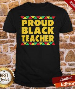 Official Proud Black Teacher Shirt