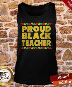 Official Proud Black Teacher Tank-Top