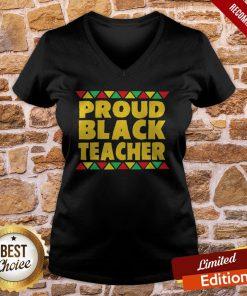 Official Proud Black Teacher V-neck