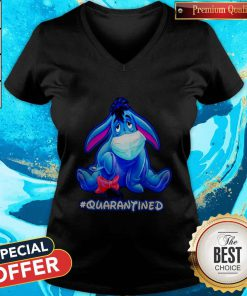 Original Quarantined Eeyore Face Mask V-neck