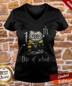 Owl Teacher 100th Day Of School Harry Potter V-neck