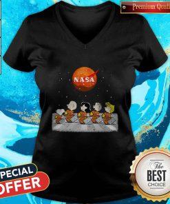 Peanuts Heads Back To Space Nasa V-neck