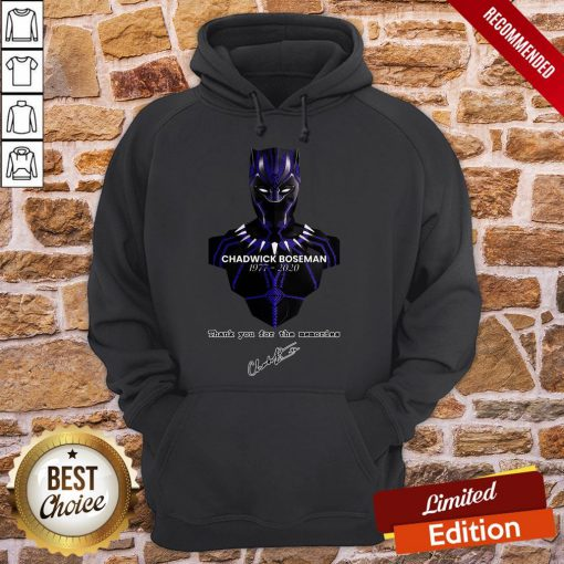 Thank You For The Memories Chadwick Boseman Black Panther Rip 1977-2020 Hoodie