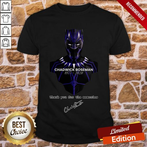 Thank You For The Memories Chadwick Boseman Black Panther Rip 1977-2020 Shirt