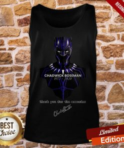 Thank You For The Memories Chadwick Boseman Black Panther Rip 1977-2020 Tank-Top