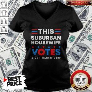 This Suburban Housewife Votes Biden Harris 2020 V-neck