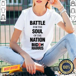 Battle For The Soul Of The Nation Biden Harris Fun Gift V-neck