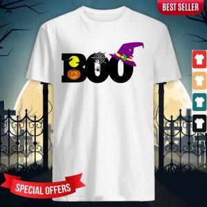 Boo Witch Pumpkin Spider Gift Halloween Day Shirt