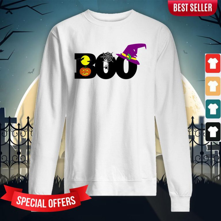 Boo Witch Pumpkin Spider Gift Halloween Day Sweatshirt