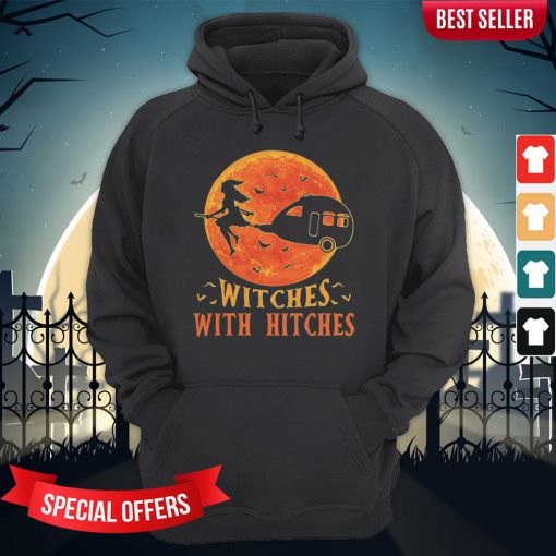 Camping Witches With Hitches Halloween Sunset Hoodie