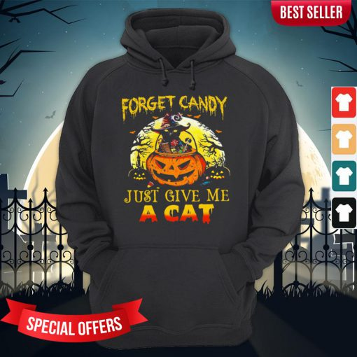 Forget Candy Just Give Me A Cat Halloween Hoodie