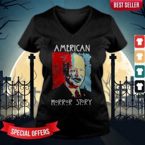 Halloween Joe Biden American Horror Story Art V-neck