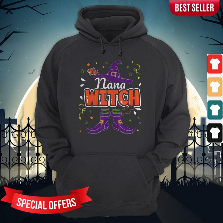 Halloween The Nana Witch Family Matching Funny Group Women Hoodie
