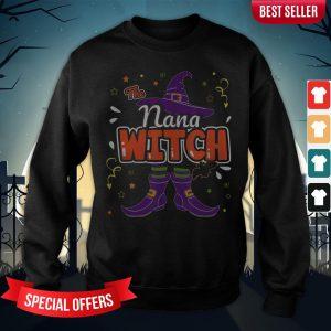 Halloween The Nana Witch Family Matching Funny Group Women Sweatshirt