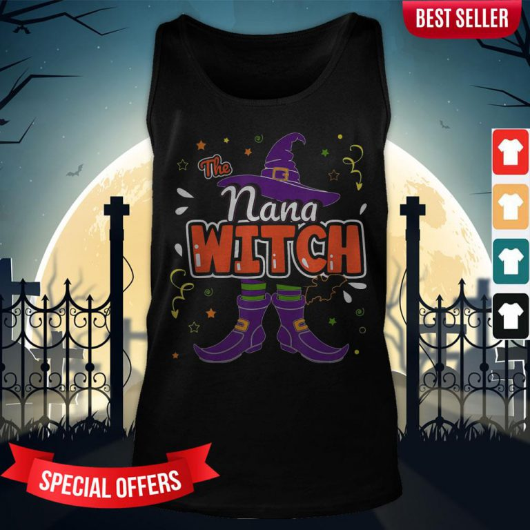 Halloween The Nana Witch Family Matching Funny Group Women Tank-Top