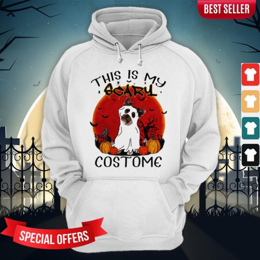 Halloween Yorkie This Is My Scary Costome Hoodie