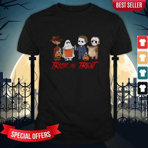 Horror Character Trick Or Treat Halloween Shirt