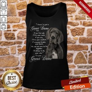 I Know I'm Just A Great Dane But If You Feel Sad I'll Be Your Smile If You Cry Tank-Top