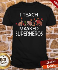 I Teach Masked Superheroes Funny Pumpkin Animals Lovers Shirt