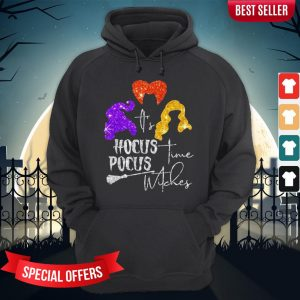 It's Hocus Pocus Time Witches Halloween Hoodie
