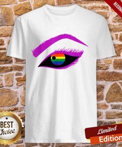 Lesbian Gay Homosexual LGBT Love Rainbow Eyes Supporter Shirt