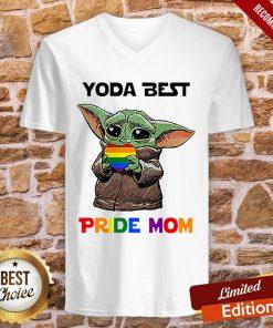 LGBT Baby Yoda Yoda Best Pride Mom V-neck