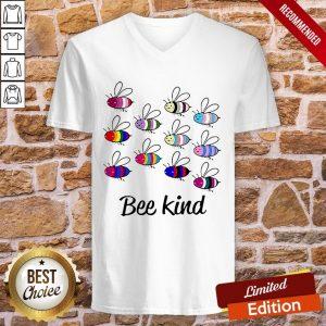 LGBT Bee Kind V-neck