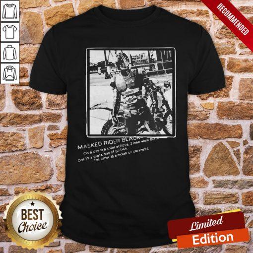 Masked Rider Black Designed By Yoshito Sugawara Shirt