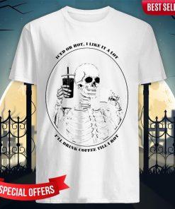 Skeleton Drinking Coffee Day Of The Dead Dia De Muertos Shirt