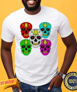 Sugar Skull Color Day Of The Dead Shirt