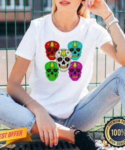 Sugar Skull Color Day Of The Dead V-neck