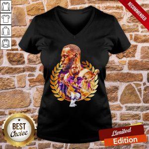 Awesome Lebron James Artwork V-neck- Design By Proposetees.com