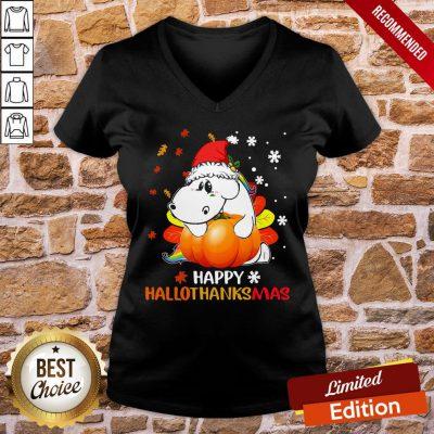 Awesome Senior Pumpkin Happy Hallo Thanks Mas V-neck - Design By Proposetees.com