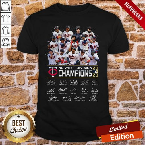 Minnesota Twins NL West Division Champions 2020 Signatures Shirt