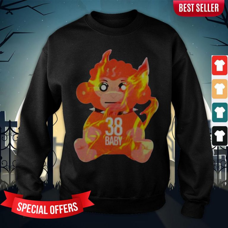 Burning Monkey Doll Never Broke Again 38 Sweatshirt