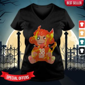 Burning Monkey Doll Never Broke Again 38 V-neck